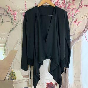 Zara Basic Collection Black Drapey Cardigan